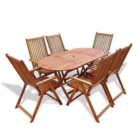 vidaXL.co.uk   vidaXL Wooden Outdoor Dining Set 6