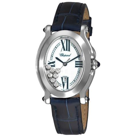 Chopard Ch7020 Oval Leather chopard s happy sport oval blue leather free shipping today