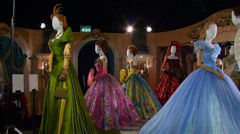 cinderella film leicester square disney unveils cinderella costume exhibition in london s