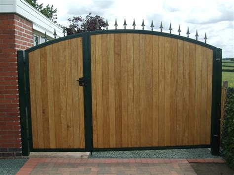 Driveway Gate Designs Wood Inspiring Great Metal Frames With Black Painted Added