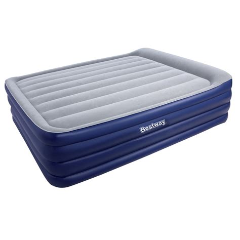 bestway air mattress bed w air blue