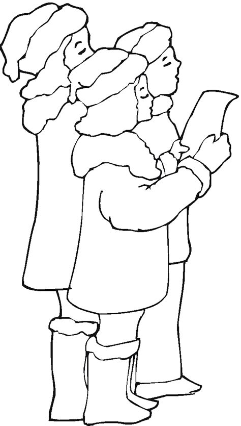 coloring page christmas carolers print to color