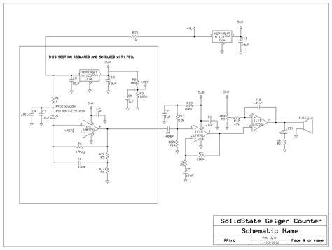 photo diode sensor circuit a solid state photodiode gamma radiation detector circuit salad