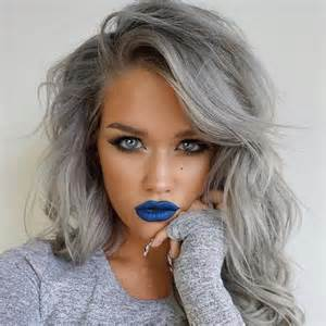 gray colored hair hair trend grey hair pearl white for