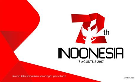 hut ri 72 logo semangat persatuan by imahkudesain on