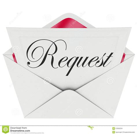 Request Letter For Yearbook Message request envelope word note letter asking for help stock