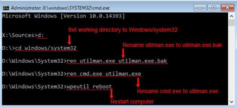 windows reset password utilman windows 10 admin password reset without disk with iso