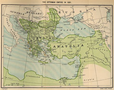ottoman empire 18th century the ottoman empire in 1801 full size