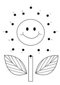 Flower Connect The Dots - free online printable kids games flower dot to dot