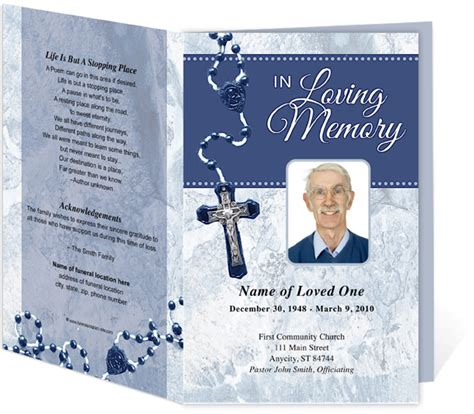 catholic mass card template catholic funeral programs template for a catholic mass