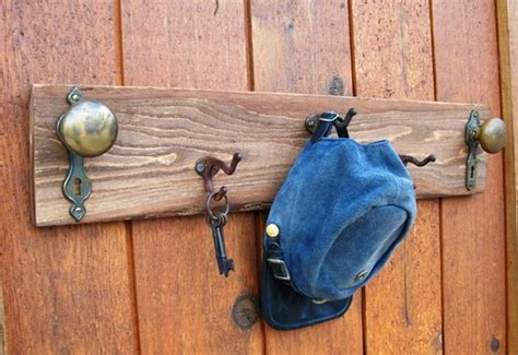 Door Knob Coat Rack by Vintage Door Knob And Hook Coat Rack By Onequarterken On Etsy