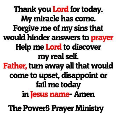 Forgive Me Lord For I Isinned by Thank You Lord For Today My Miracle Has Come Forgive Me