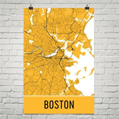 boston map wall boston ma map print poster wall from 29 99