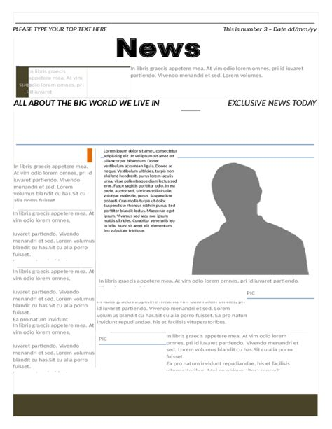modern newspaper template free download