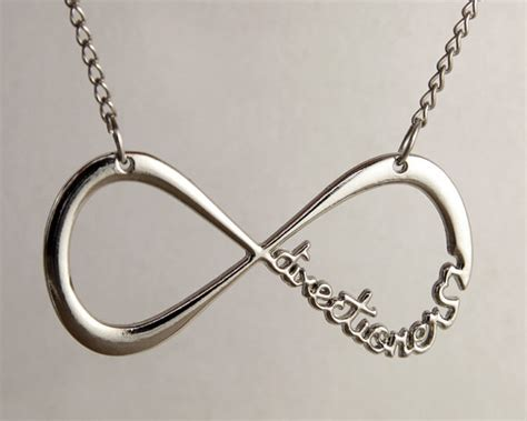 one to infinity one direction infinity charm silver necklace on luulla