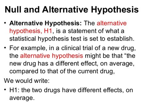 exle of null hypothesis research methods lesson 3