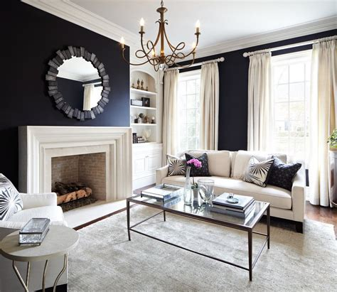 ideas  black wall interiors   style