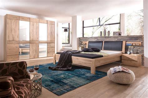 schlafzimmer calgary asteiche bianco bett 180x200 nako - Schlafzimmer Calgary