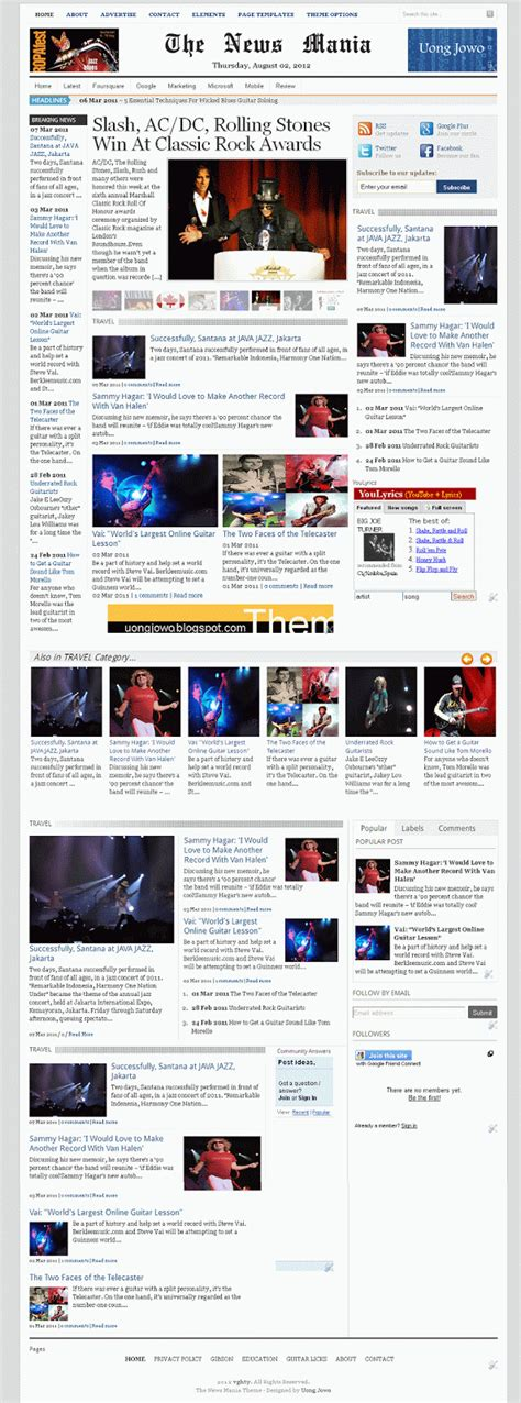 blogger themes for news august 2012 uong jowo