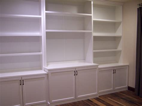 white lacquer bookcase contemporary home office