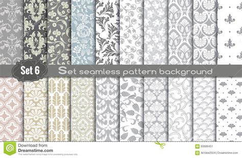 seamless pattern swatch illustrator vector damask seamless pattern background stock vector