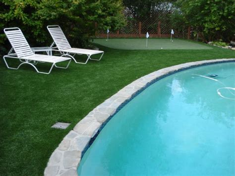artificial grass   pool attractive safer