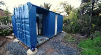 Inexpensive Houses To Build woman s 20 off grid shipping container tiny house