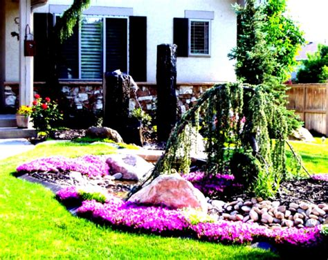 Idea For Landscape Garden Wonderful Green Landscaping Ideas For Front Yard Flower Beds Homelk