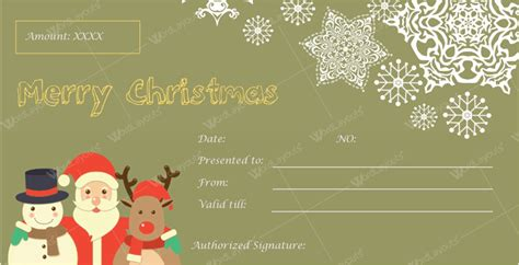 buy printable gift vouchers online christmas gift certificate templates for word editable
