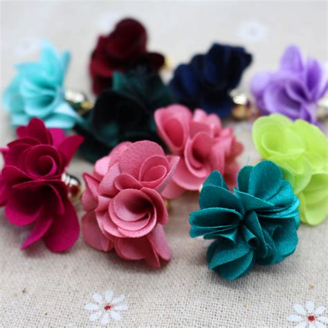 Floral Two Color Flowers Tassel Earrings Anting Panjang 100pcs mixed color flower tassel 27mm tassels for jewelry
