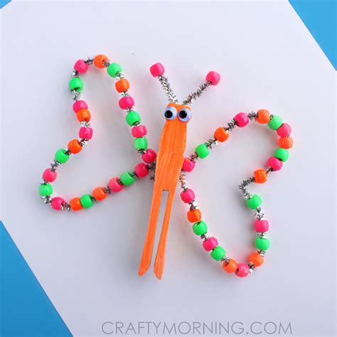 beaded butterfly craft neon beaded butterfly craft for crafty morning