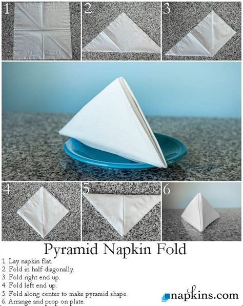 Pyramid Paper Folding - how to pyramid napkin fold how to make and fold napkins