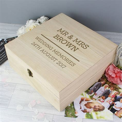 Wedding Keepsake Box Not On The High by Personalised Wedding Wooden Keepsake Box By Dreams To