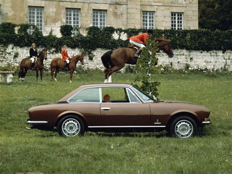 peugeot 504 coupe pininfarina color coded advertising brown ran when parked