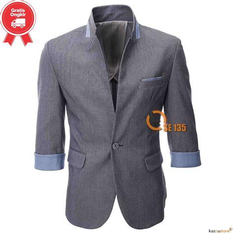 Kaos Arema Dulu Baru Kamu Abu detil produk casual blazer pria korea se135 abu abu kazoustore