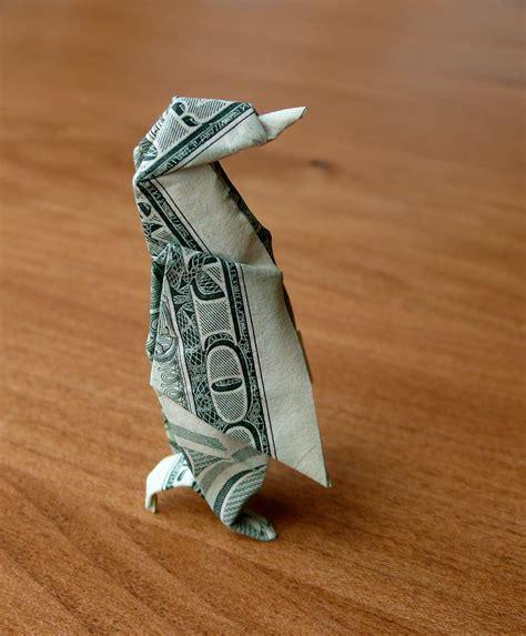 Dollar Bill Origami Penguin - dollar origami penguin v5 by craigfoldsfives on deviantart