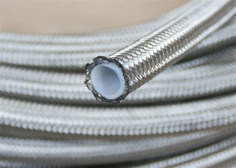 an 10 an10 stainless braided ptfe teflon fuel line