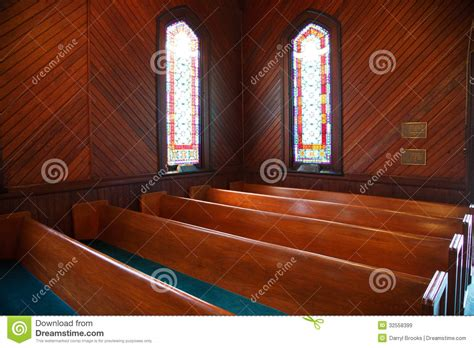 pews  stained glass  church royalty  stock images