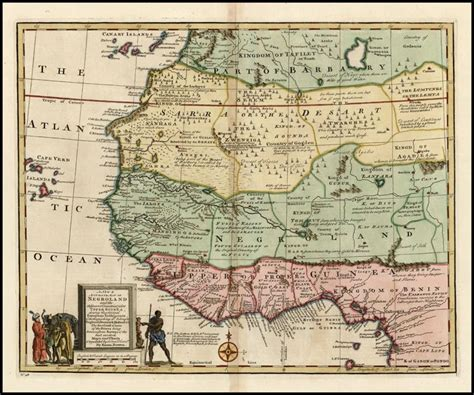 africa map 1747 negroland emanuel bowen a new accurate map of
