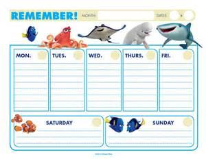 free printable weekly calendar kids calendar template