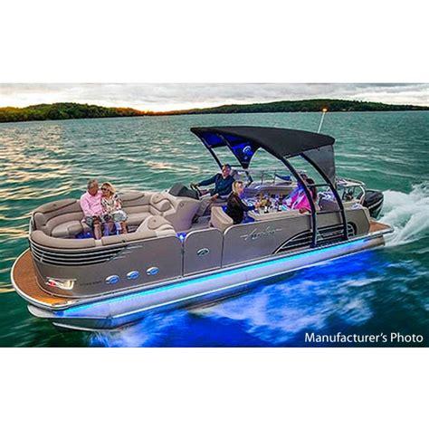 model boat rub rail avalon luxury pontoon lesx oesx outdoor boat illuminated