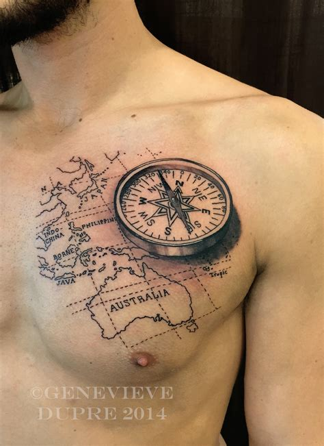 compass map tattoo realistic compass pesquisa