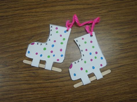 crafts winter skates craft and more winter program ideas winter