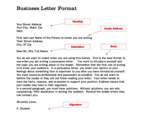 Business Letter Format Books business letter template 44 free word pdf documents