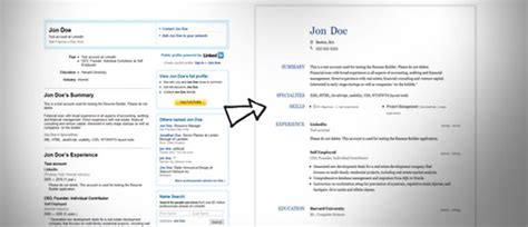 Resume Job Posting Format by Linkedin Cv Presentation Vs The Old Fashioned Cv