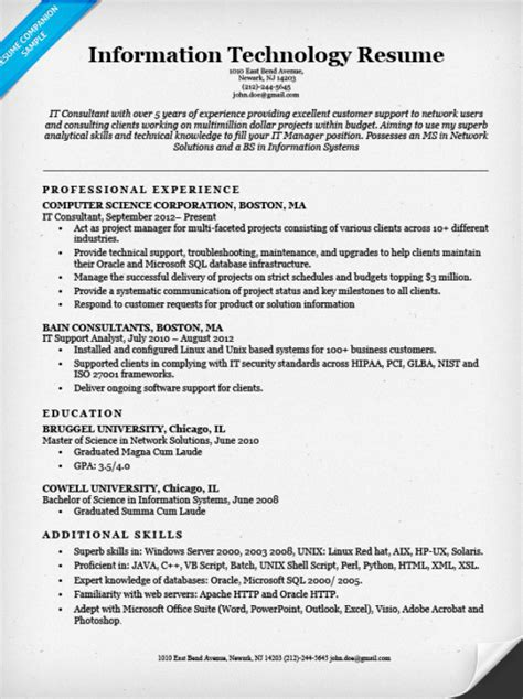 executive resume sample chief information officer executive resume