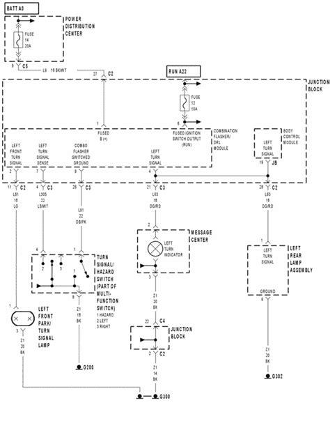turn signal wiring diagram    dodge grand caravan