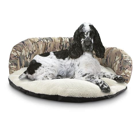 camo dog bed pooch n purr 174 camo fleece cuddler dog bed 185685