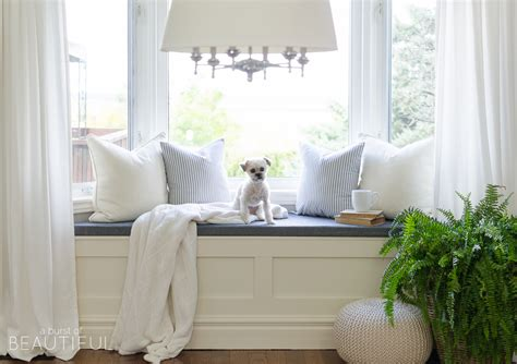Diy Window Bench With Storage A Burst Of Beautiful