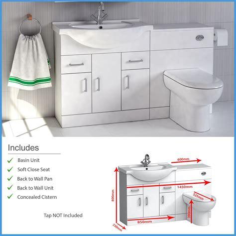 High Gloss Bathroom Furniture High Gloss White Bathroom Furniture Suite Vanity Unit Cabinet Wc Unit Btw Toilet Ebay